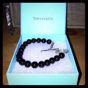 Tiffany & Co. Jewelry - Tiffany and Co. silver & black bead bracelet